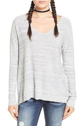 Women's Bp. Marl V Neck Pullover Grey Quarry Bella Marl