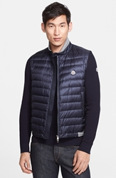 Moncler Quilted Down Sweater Vest Navy