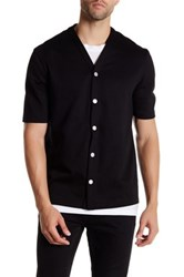 Helmut Lang Fat Loop Terry Knit Baseball Jersey Black
