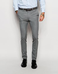Asos Super Skinny Suit Trousers In Grey Grey