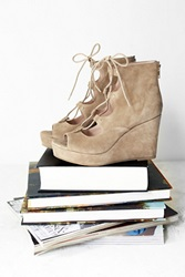 J Slides Three Wishes Lace Up Wedge