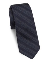 Theory Diagonal Striped Silk Tie Eclipse