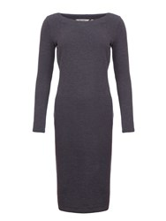 Garcia Long Fitted Dress Charcoal