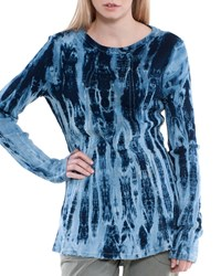 Xcvi Lildi Tie Dye Long Sleeve Thermal Tee Polar Wash