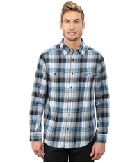 Merrell Excurse Flannel Legion Blue Men's Long Sleeve Button Up Navy