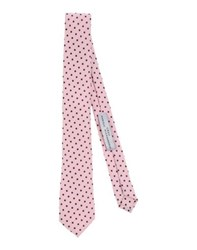 Grey Daniele Alessandrini Accessories Ties Men Pink