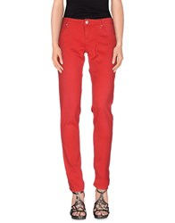 Acht Denim Denim Trousers Women Red