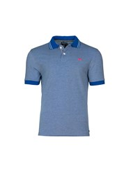 Raging Bull Tonic Pique Polo Blue Royale