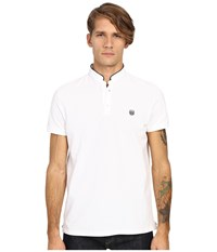 The Kooples Shiny Pique Polo White 1 Men's Short Sleeve Pullover