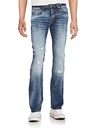 Cult Of Individuality Greaser Distressed Straight Leg Jeans Prime
