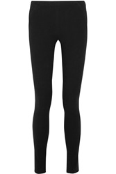 Donna Karan Felt And Stretch Jersey Leggings Black
