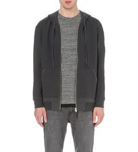 Allsaints Forde Cotton Jersey Hoody Washed Black