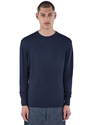 Aiezen Crew Neck Long Sleeved Top Navy