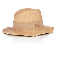 Barbisio Men's Basket Weave Fedora Tan