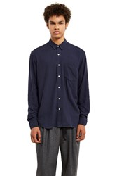 Our Legacy Classic Silk Shirt Navy