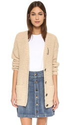 Maison Scotch Chunky Knit Cardigan Cream
