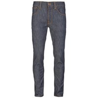 Nudie Jeans Men's Lean Dean Straight Slim Fit Tapered Leg Jeans Dry Iron Blue