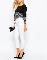 Oasis Cropped Skinny Jean White