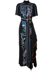 Peter Pilotto Embroidered Details Dress Black