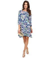 Lilly Pulitzer Edna Dress Multi Hanging With Fronds Women's Dress Blue