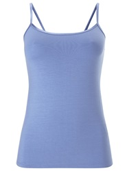 Phase Eight Satin Trim Camisole Top Bluebell