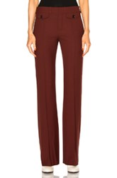 Chloe Stretch Wool Trousers In Red