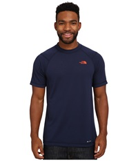 The North Face Short Sleeve Rdt Crew Tee Cosmic Blue Acrylic Orange Men's T Shirt
