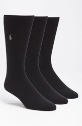 Men's Polo Ralph Lauren Socks Blue 3 Pack Online Only Navy