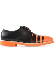 Pollini Striped Derby Shoes