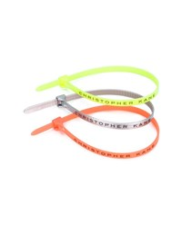 Christopher Kane Multi Pack Of Cable Ties Lilac Yellow Red Multi Coloured Denim