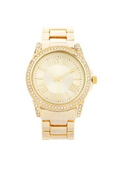 Forever 21 Rhinestone Encrusted Watch Gold