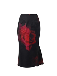 Josh Goot Rose Flared Pencil Skirt