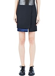 Paco Rabanne Satin Panel Miniskirt Black