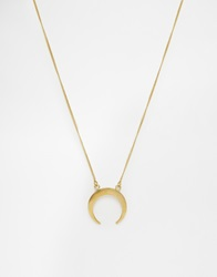 Made Crescent Necklace Gold