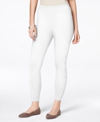 Styleandco. Style And Co. Studded Leggings Only At Macy's Bright White