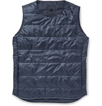 Descente H.C.S. Quilted Shell Down Gilet Blue