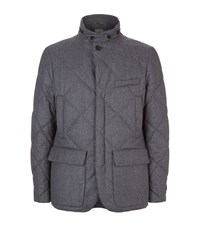 Canali Quilted Flannel Blazer Male Grey