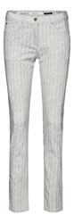 Sandwich Herringbone Printed Jeans Winter White