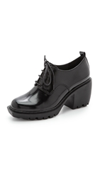 Opening Ceremony Grunge Lace Up Oxfords Black