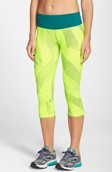 Brooks 'Greenlight' Capri Leggings Nightlife Big Sunshine