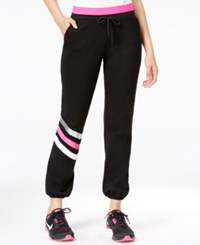 Jessica Simpson The Warm Up Juniors' Logo Jogger Pants Only At Macy's Black Combo
