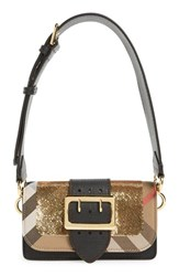 Burberry 'Small Belt Bag' Leather And House Check Convertible Shoulder Bag