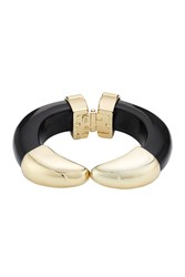 Kenneth Jay Lane Hinged Bracelet Black