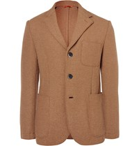 Barena Unstructured Boiled Wool Blazer Brown