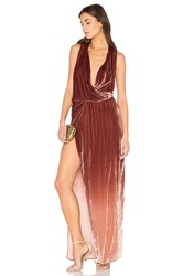 Young Fabulous And Broke Juliete Velvet Dress Brown