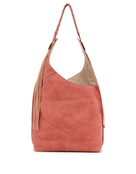Ella Moss Skylar Leather Hobo Bag Rose
