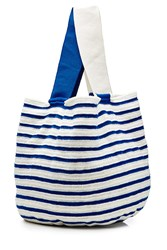 Sophie Anderson Striped Cotton Tote Blue