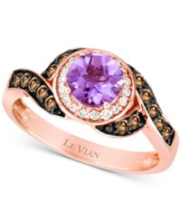 Le Vian Amethyst 5 8 Ct. T.W. And Diamond 1 3 Ct. T.W. Ring In 14K Rose Gold