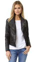 Vince Moto Leather Jacket Black
