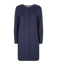 Armani Collezioni Collarless Double Face Coat Female Navy